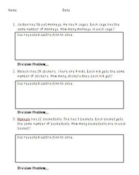 math worksheet : word problems division and words on pinterest : Repeated Subtraction Worksheets
