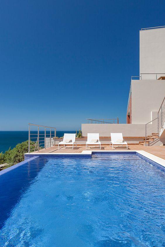 STRAND-VILLA SALEMA II | PORTUGAL - Modernes Ferienhaus an einer Steilklippe der Algarve mit spektakulärem Meerblick