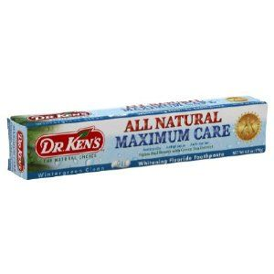 Dr kens toothpaste maximum care wintergreen 6 oz by dr kens 8 02