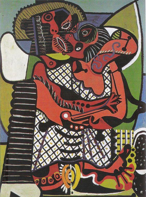 EL BESO . 1925  Óleo sobre lienzo, 130,5 x 97,7 cm París, Musée National Picasso.
