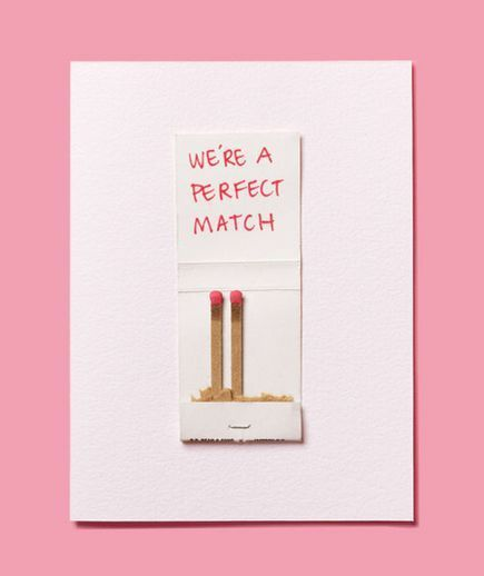 we're a perfect match | #valentinesday funny card | #charmingcharlie  #valentines #giftguide #pink #red