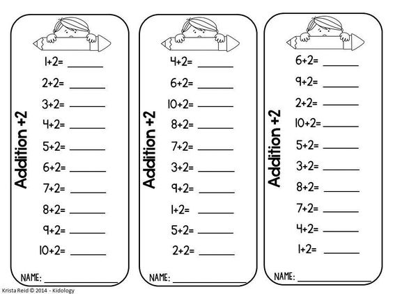 Addition Fact Fluency – Addition Timed Test Worksheets