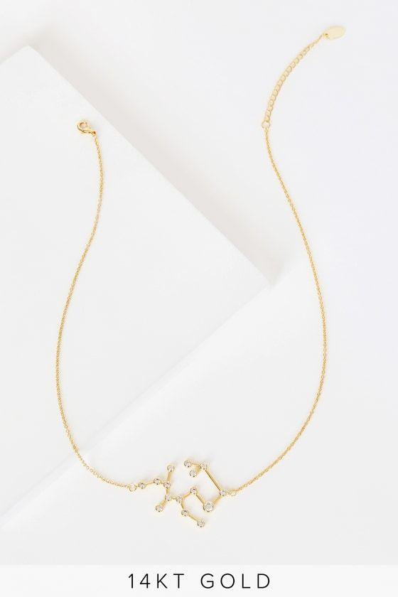 When Stars Align 14k Gold Constellation Sagittarius Necklace Sagittarius Necklace Constellation Necklace Necklace