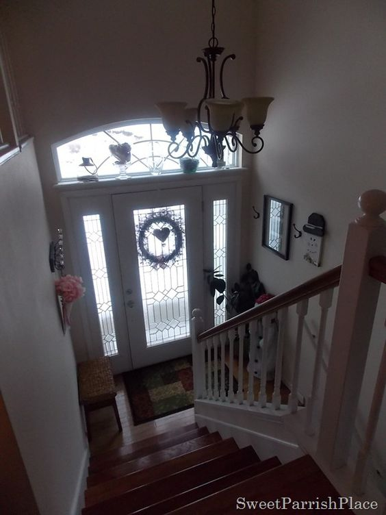 Split Entry Foyer Lighting : Split level entryway and light fixtures