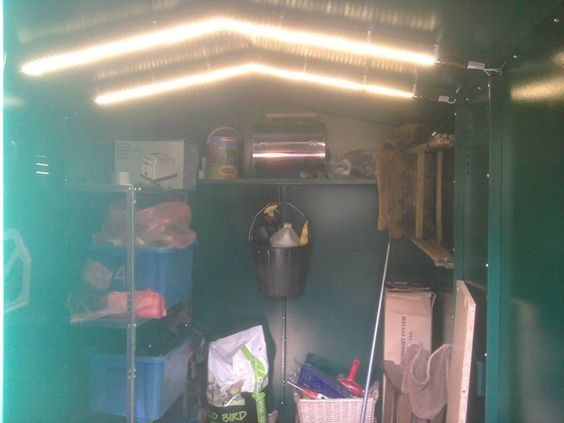 "Well done Chris for sending in this great picture. Your M&S vouchers are on the way.  ""The lights are 1.2m strips of led's that stick onto the 2 ridges on the inside of the roof. powered by a 12v battery and a simple Maplin switch so no external wiring or power supply needed. The shed is fantastic I cannot speak highly enough of it."" - Chris Marvel - http://ift.tt/1HQJd81"
