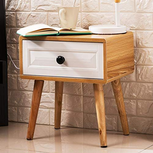 Xue Yan Bedside Cabinet Multi Function Side Cabinet Simple Bedroom Storage Cabinet With Solid Wood Bedside Cabinet Mid Century Modern Wood Wood Nightstand