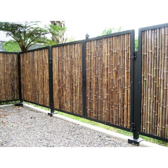 Rolled Bamboo Fencing Fence Design Backyard Fences Bamboo Fence