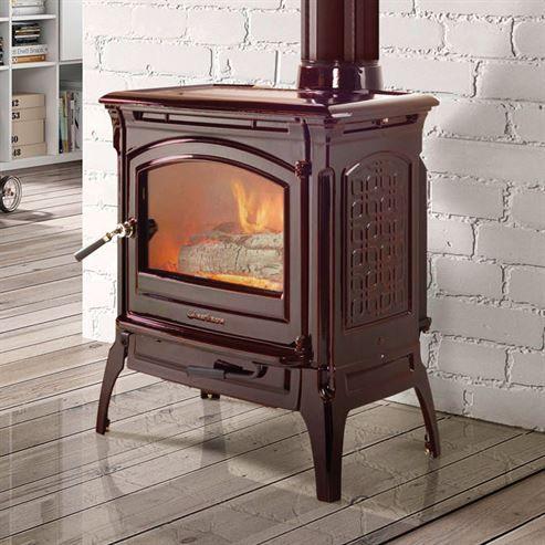 Brown wood stove white bricks wall. - Brown Wood Stove White Bricks Wall... Living Room Pinterest