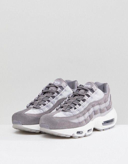 Nike Air Max 95 Velvet Trainers In Grey | Fringues | Air max