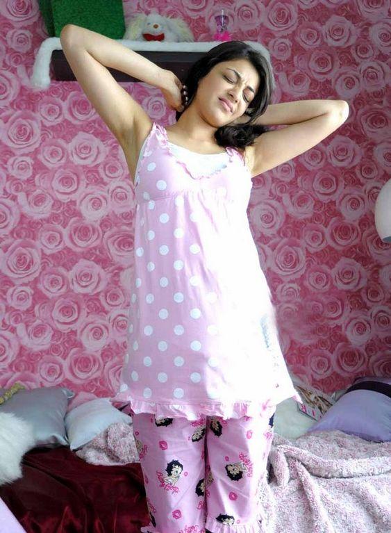Desi girl in night dress image