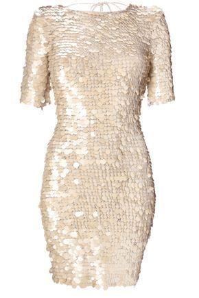 sequined little white dress