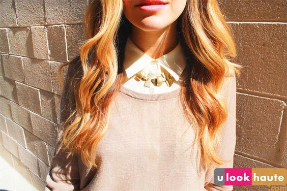 collar necklace worn under the collar