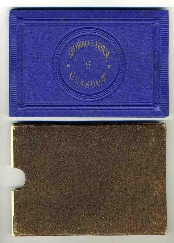 Leporello Album 12 Views of Glasgow Scotland 1900 in Slip Case