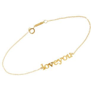 Gold 'Love You' Bracelet. FIND ME THIS FOR LESS $