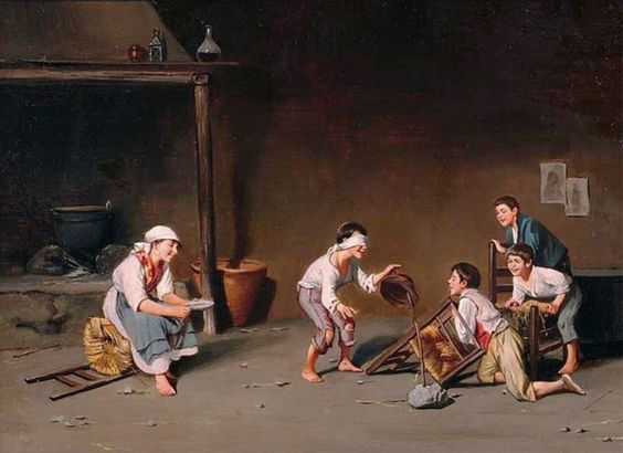 Constantini, Giuseppe (b,1843)- Blind Man's Buff, II