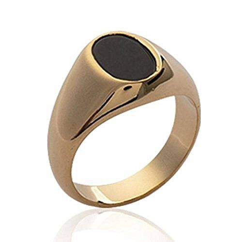 Wonderful Gold Chevali/ère 18 carats ISADY Plaqu/é Or 750//000 Bague Mixte Homme Femme