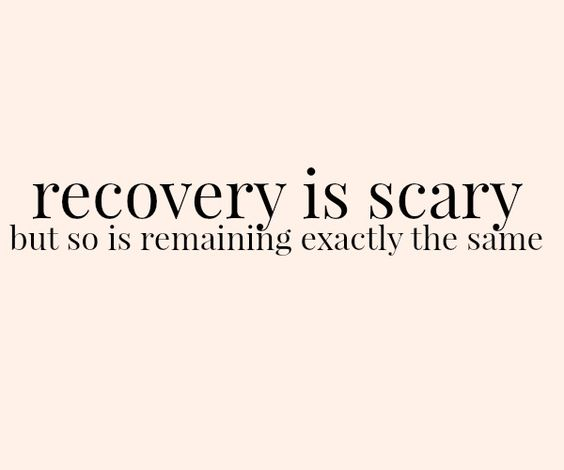 #recovery: