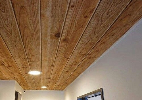 サンゲツ Th 9390 板の柄や凸凹がとてもリアル 天井に貼ったら壁紙だ