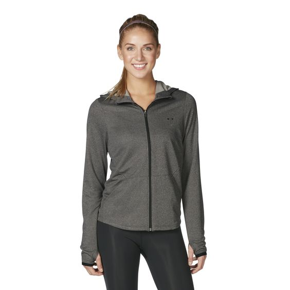 oakley online training  shop oakley high up oakley full zip training hoodie in athletic heather grey at the