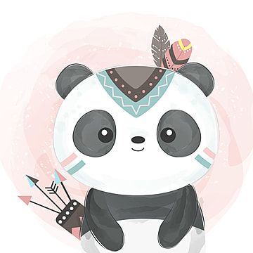 Adorable Watercolor Panda Illustration Panda Clipart Adorable Animal Png And Vector With Transparent Background For Free Download Panda Illustration Baby Animal Drawings Cute Animal Illustration