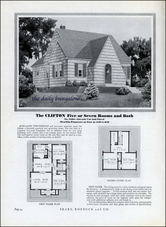 Homes of today sears kit houses 1932 flickr photo for 1930s house plans