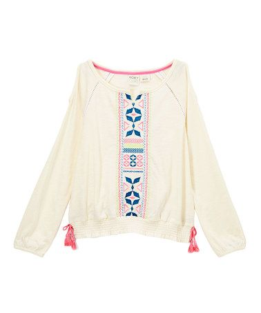 This Sea Spray Jaco Peasant Top - Kids & Tween is perfect! #zulilyfinds