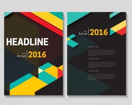 Abstract vector modern flyer brochure design template free vector ...