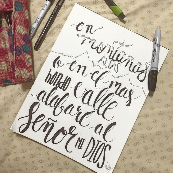 Bendeciré a Jehová en todo tiempo, Su alabanza estará siempre en mi boca  #Lettering #TheDailyType #LetteringCo