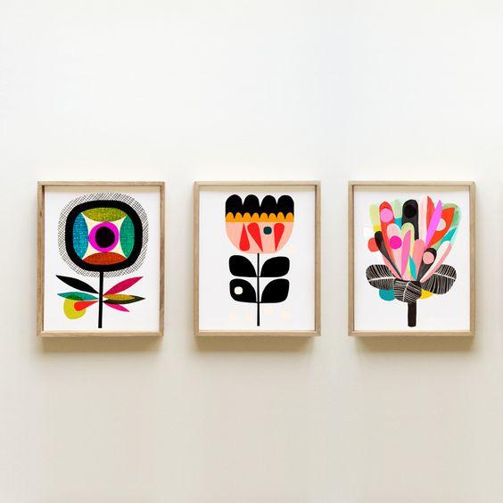 Full Bloom Print Set | Inaluxe fine art prints and original art