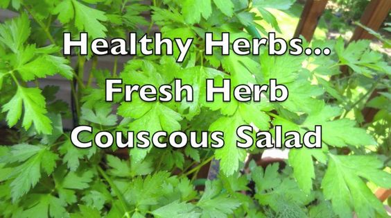 Healthy Herbs: Fresh Herb & Couscous Salad