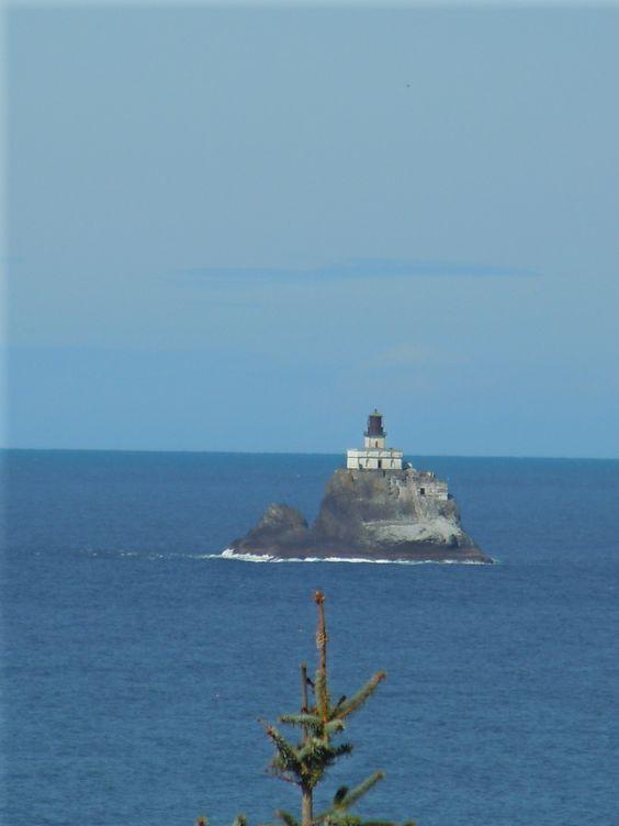 Tillamook Rock Lighthouse near Cannon Beach, OR.