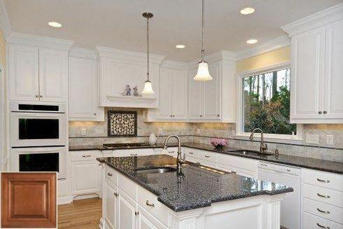 Granite Countertops Kitchen, White Kitchen Cabinets With Granite Countertops