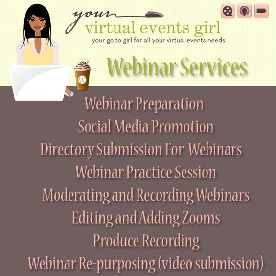 http://yourvirtualeventsgirl.com a a Certified Virtual Events Specialist offering #Webinar Moderation services and more...