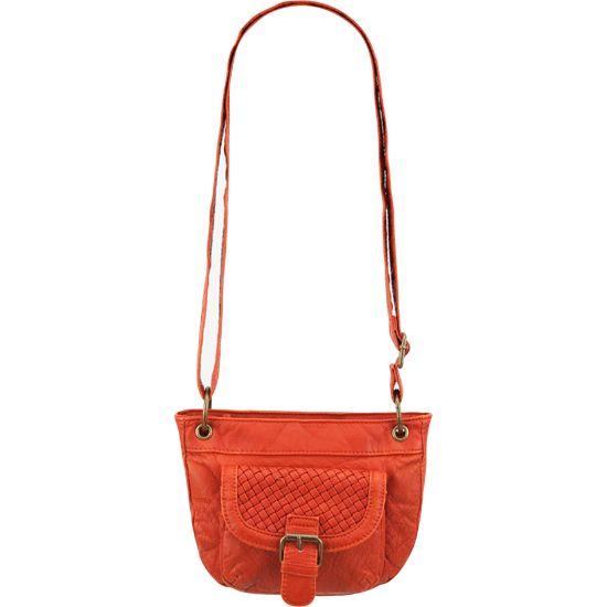 Woven Pocket Crossbody Handbag