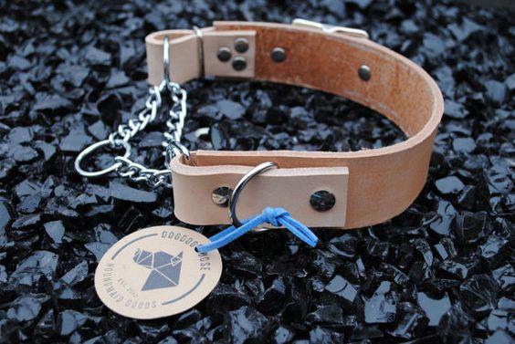 Verkauf der Hornburg Kragen: Natürliche Tan Heavy von dogdoggoose