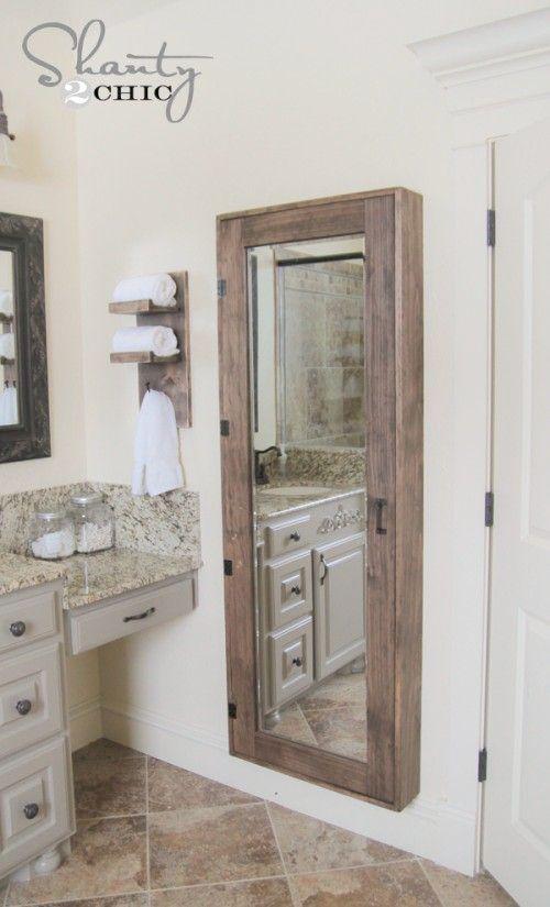 Sauder Caraway Etagere Bath Cabinet Soft White Finish With Images Diy Closet Storage Bathroom Mirrors Diy Diy Bathroom Storage