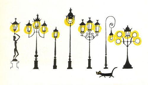 """Dessin extrait d'un livre de mon enfance : """"This is Paris"""", """"Voici Paris"""" avec les merveilleuses illustrations de Miroslav Sasek.:"""