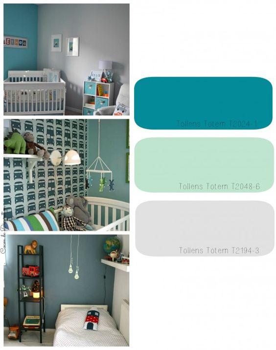 Chambre A Coucher Conforama : Chambre denfants gris  bleu canard  vert amande