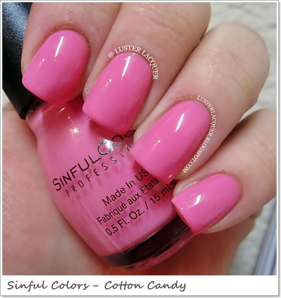 Cotton Candy Nail Polish Color: Sinful Colors -Cotton Candy