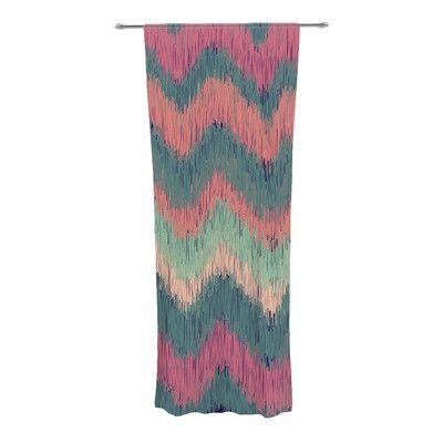 KESS InHouse Ikat Chevron Curtain Panels