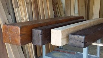 Distressed Beam Mantel Shelves - contemporary - spaces - los angeles - The Mantel Guy .com