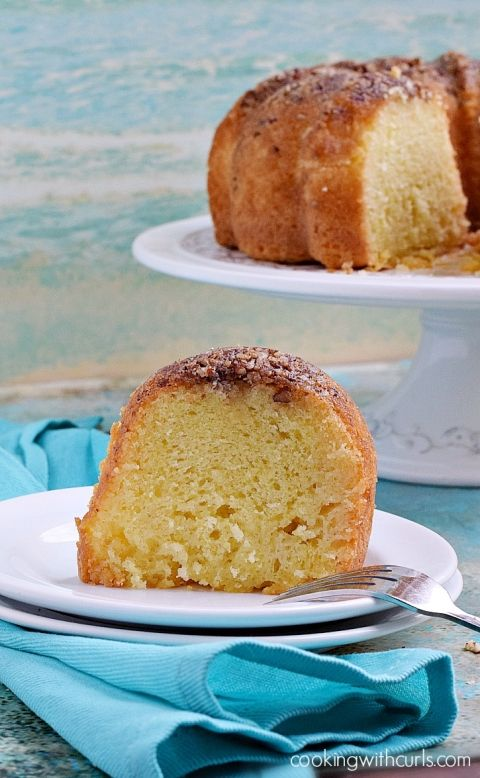 This moist rum soaked Tortuga Rum Cake is sure to be a hit with all of your friends | cookingwithcurls.com