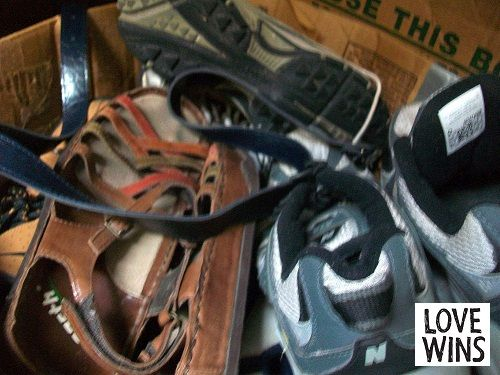 Donated Shoes, via Flickr.