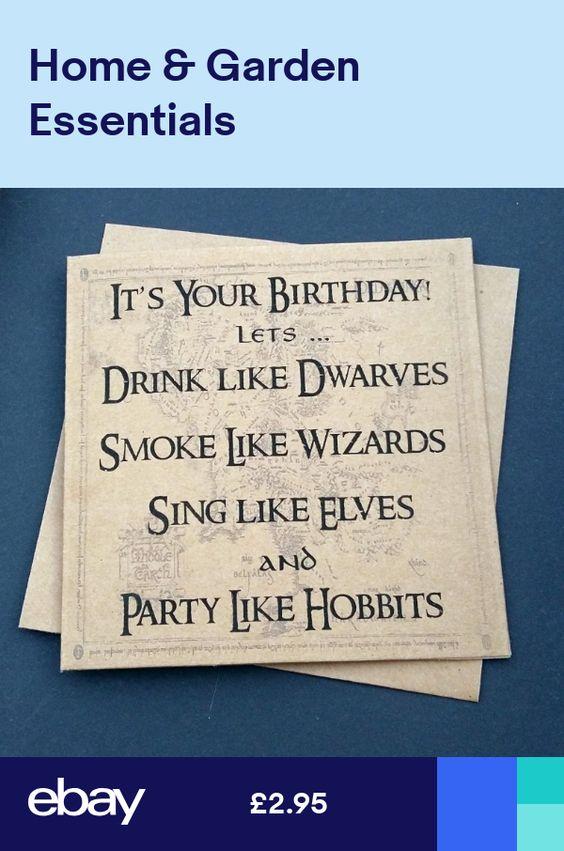 Handmade Funny Lotr Lord Of The Rings Birthday Card Party Like Hobbits Birthday Ring Cricut Birthday Cards Lord Of The Rings