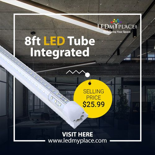 T8 8ft V Shape Led Tube Light 60w Integrated 6500k Clear Led Shop Light Fixture Oficinas