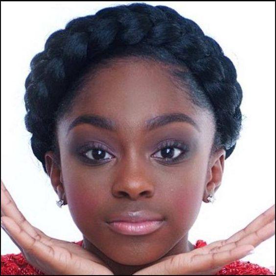 Hairstyle Halo : ... halo braid natural hair black girls faux halo braid crown braid black