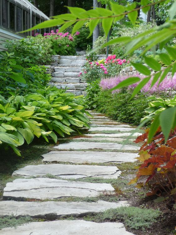 espace trottoir dans votre jardin am nagement paysager sherbrooke maison diane gilbert. Black Bedroom Furniture Sets. Home Design Ideas