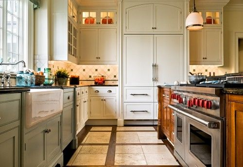 A kitchen that seems full of light.