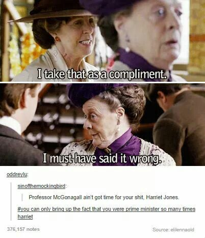 Maggie, your McGonagall is showing