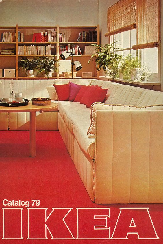 The 1979 IKEA catalogue. This may be the loudest carpet of all time.